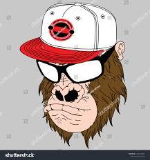 Lens Cap Design Monkey Lens Cap Design Cartoon Stock Vector Royalty Free