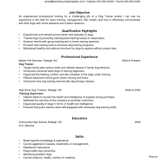 Trainer Resume Sample Personal Trainer Resume Sample Objective Training Vesochieuxo 29