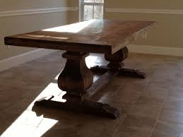 7ft dining table: ft trestle table solid wood  ft trestle table solid wood