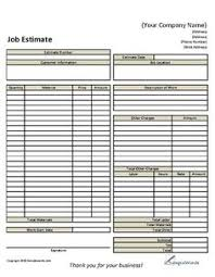 handyman estimating software free handyman business estimate form proposals business and template
