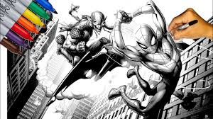 Or, color online on our site with the interactive coloring machine and print online. Spider Man Vs Green Goblin Marvel S Spider Man Coloring Pages Sailany Coloring Kids Youtube