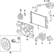 parts com® chevrolet cruze cooling system oem parts 2012 chevrolet cruze ls l4 1 8 liter flex cooling system
