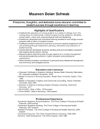 Resume Examples For Nursing Instructors Augustais