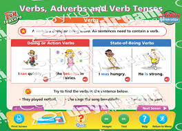 Tense Adverb Chart Verbs Adverbs And Verb Tenses Interactive Software Download