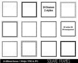 clip art borders square black frame png12 frame