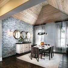 tall dining room wood ceiling ideas