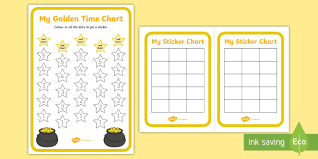 Golden Time Charts Golden Time Charts Sticker Charts
