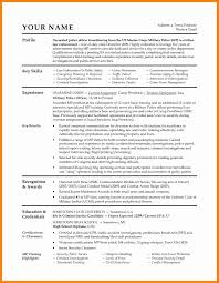 6 Military Resume Builder Free New Hope Stream Wood