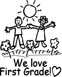 We Love First Grade Coloring Page Wecoloringpagecom