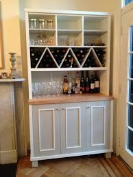 Kitchen Storage Furniture Zigzag Shaped Wine Racks With Multi Purposes Kitchen Wall Storage