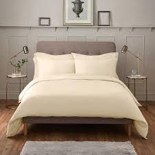 ijp luxury 600tc super king duvet cover cream