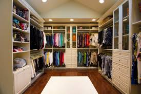 beautiful interior home design using cool closets ideas wood polished floors and recessed lighting also
