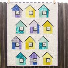 460 best House quilts images on Pinterest | Sheds, Baby blankets ... & Modern House block by Amanda, OKC Modern Quilters.