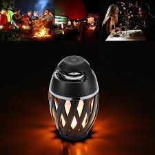 bluetooth speaker wireless portable bass mini sound box led flame lamp 46 74