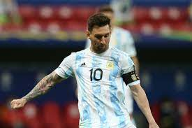 Lionel Messi during Argentina shootout ...