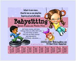 Sample Babysitting Flyer Examples Of Babysitting Flyers Luxury Sample Daycare Flyers Lovely