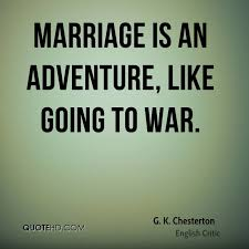 Quotes About Marriage Mesmerizing G K Chesterton Marriage Quotes QuoteHD