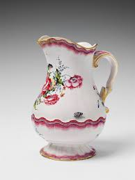 Decorative Water Pitcher A Sceaux faience water pitcher with floral and insect decor 53