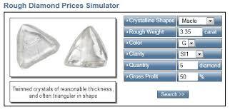 Diamond Resale Value Chart Rough Diamond Prices