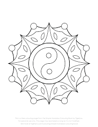 Ying Yang Coloring Pages At Getdrawingscom Free For Personal Use