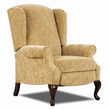 hi leg recliners traditional heathgate hileg recliner with wing back sides and queen anne legs by