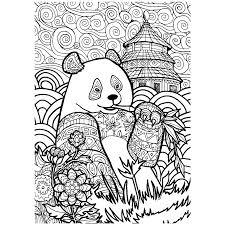Leuk Voor Kids Gedetailleerde Tekening Van Een Panda