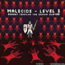Pixel Art Game Character Design Malecide Level 1 Knight Templar Demon Slayer Melee