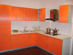 Orange And White Kitchen 15 The Elegant View Of Contemporary Kitchen Cabinets Design Decpot
