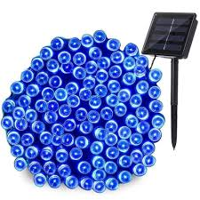 Red White Blue Solar Lights Kwb Led Solar String Lights 12m 100balls Christmas New Year Lamps White Warm White Blue Red Rgb