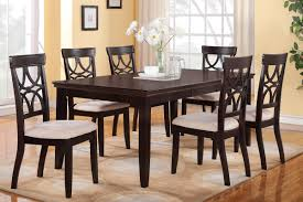espresso dining table and chairs. picture of 6-piece dining table set, espresso finish and chairs e