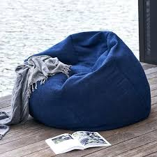 bean bags denim bean bag chair solid outdoor bean bag navy west elm denim bean