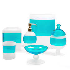 frosted glass bathroom accessories. Frosted Glass Bath Accessories   Between The Sheets Turquoise Blue Bathroom D