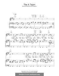 ed sheeran sheet music the a team by e sheeran sheet music on musicaneo