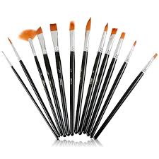 artacts professional artist paint brush set for watercolor acrylics oil face painting