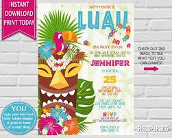 Luau Flyer Hawaiian Luau Birthday Invitation Luau Flyer Flyer Pixel Design