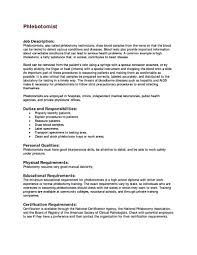 Sample Phlebotomy Resume Resume For Study
