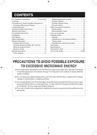 Microwave To Oven Conversion Chart Dmr0145 Microwave Oven User Manual R22jt 01 07 Sharp