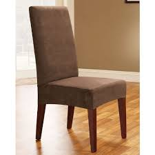amazon sure fit soft suede shorty dining room chair slipcover burgundy sf36674 home kitchen