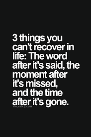 3 things you can t recover in life the word after it s said