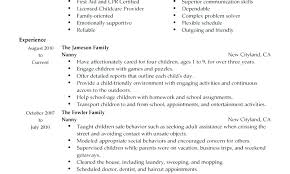 Objective For A Nanny Resume Nanny Resume Cliffordsphotography 79