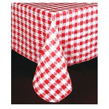red table cloths red check pattern vinyl tablecloth x 120 round red tablecloths