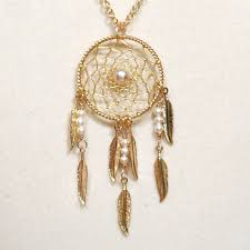 Dream Catcher Neclace Delectable Dream Catcher Pearl Gold Dreamcatcher Necklace With By BBJdesign