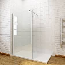 Walk In Shower Enclosure 1900mm Walk In Wet Room Shower Enclosure Screen Tray Waste Return