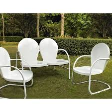 picture of griffith 3 piece metal outdoor set white d