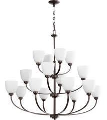 quorum 6060 16 86 reyes 16 light 44 inch oiled bronze chandelier ceiling light