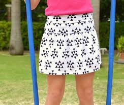 Free Skirt Patterns Impressive Free Pattern Girl's Monkey Bar Skirt With Built In Shorts Sewing