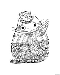 Pusheen Coloring Pages With Steampunk Printable 4 Printable