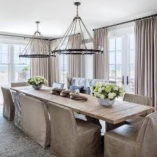 dining room lighting ideas ceiling rope. Light Salvaged Wood Trestle Dining Table With Rope And Iron Ring Chandeliers Room Lighting Ideas Ceiling F