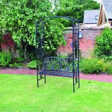 kingfisher elegant decorative garden black steel metal arch pergola