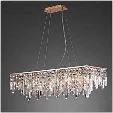 diyas il31715 maddison pendant rectangular 6 light g9 rose gold crystal